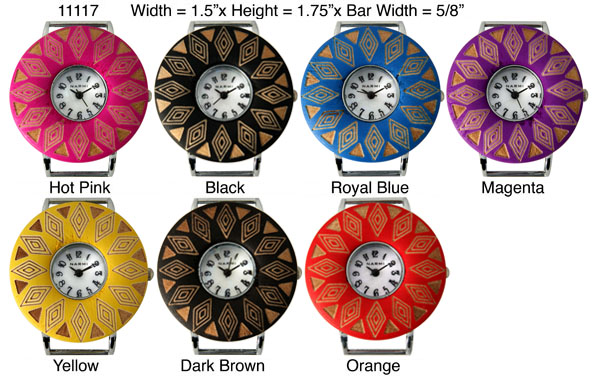Women's 34mm Round Fancy Interchangeable Bracelet Watch