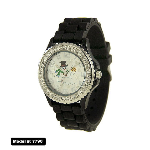 NEW Women's Christmas Watch With Snow Man printed Dial