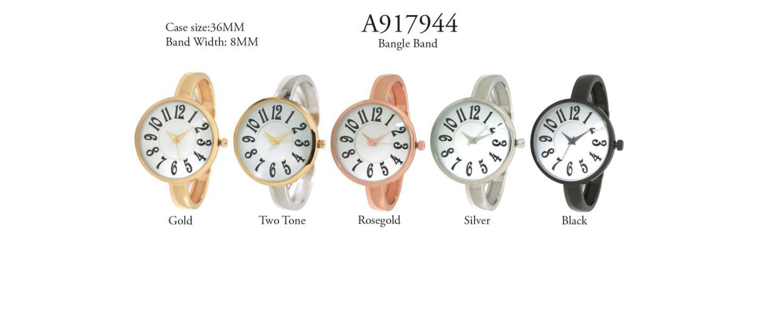 Women's 36mm Round BigNumber Dial watch
