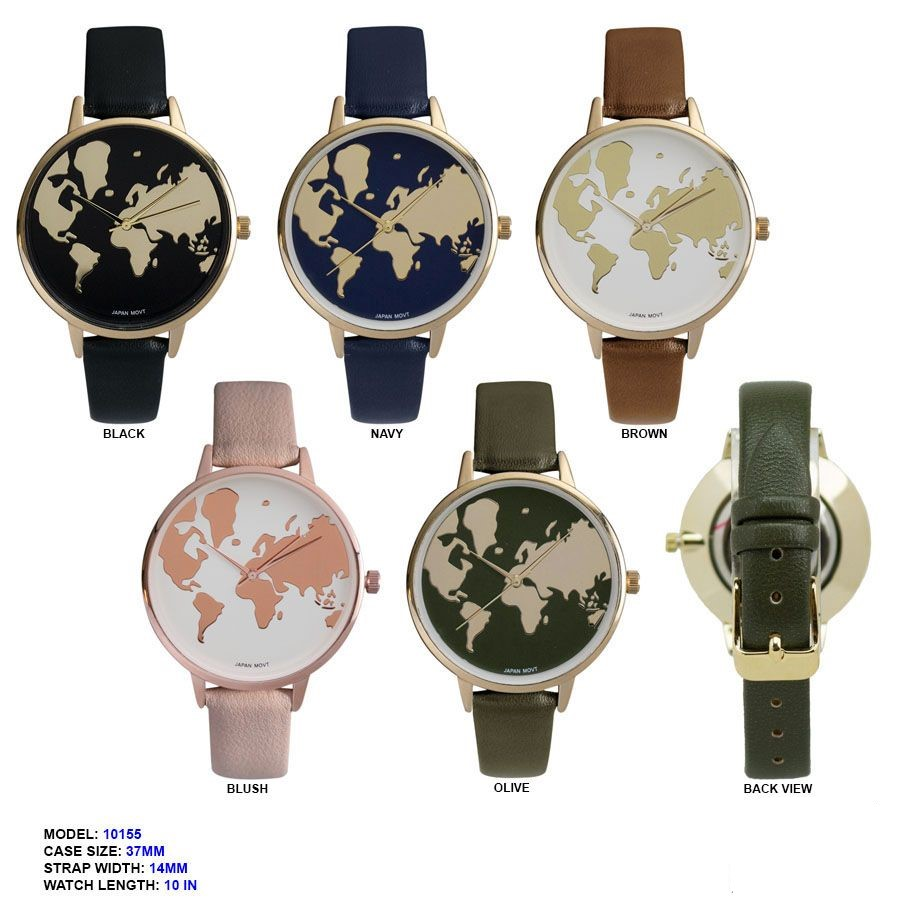 new 37mm Map printed dial watch
