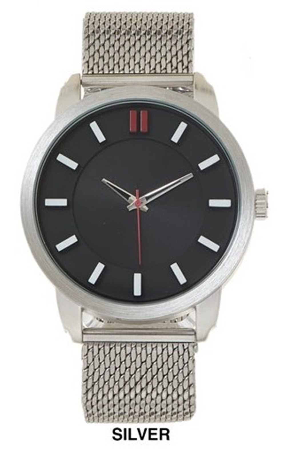 NEW Men's 50 mm Big Dial With Mesh Strap Band Watch