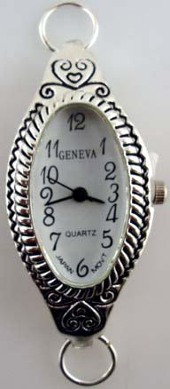 Geneva Silver tone loop watch faces