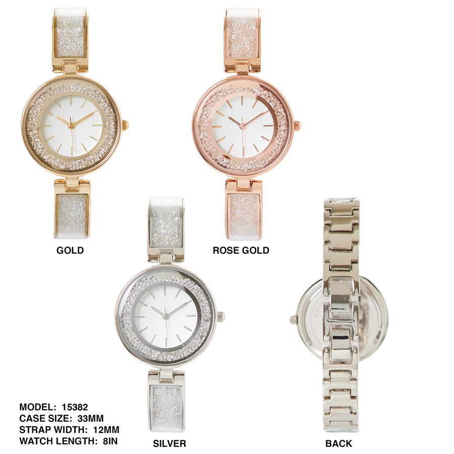 NEW women's watch 33mm Round Dial with floating of stones