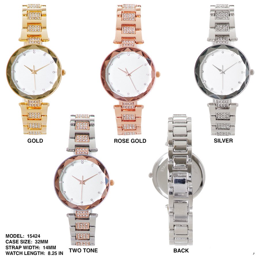 NEW Women's 32mm Round Dial with Stainless Steal Band