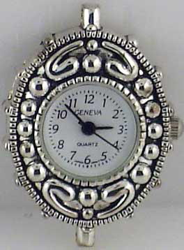 Geneva Fancy Silver tone big hole