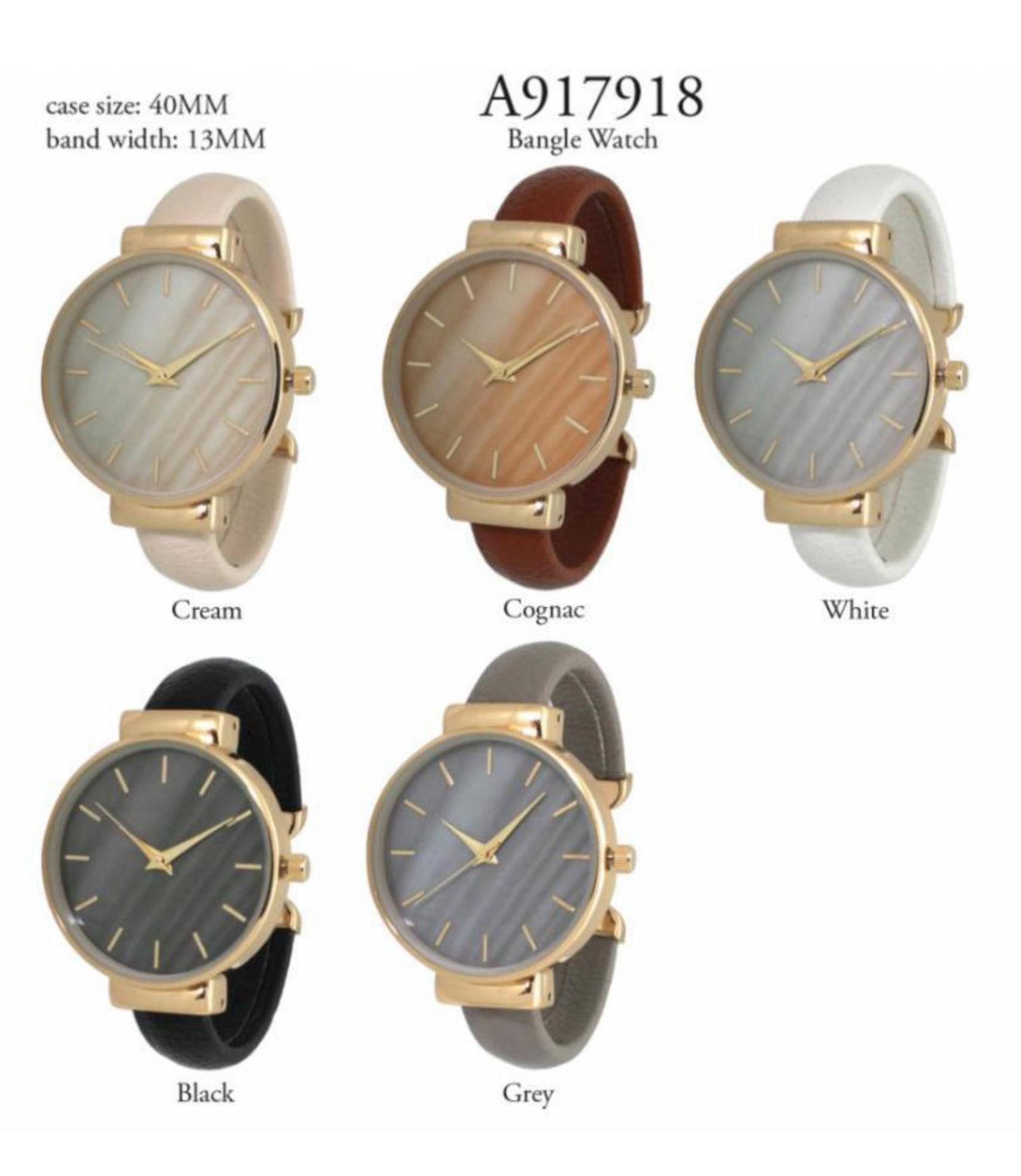 Women's 40mm Round Dial Cuff Style Watch