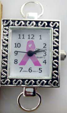 Square Watch Face for Breast Cancer awareness