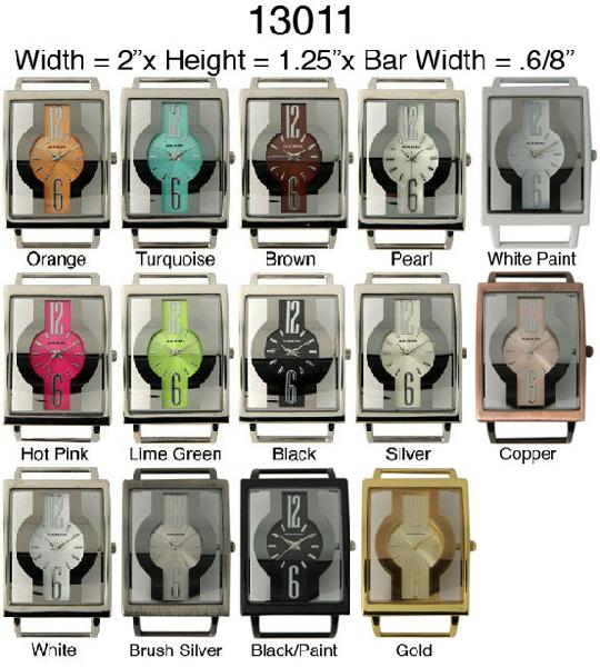 Women's 36mm Square Fancy interchangeable Bracelet watch Face
