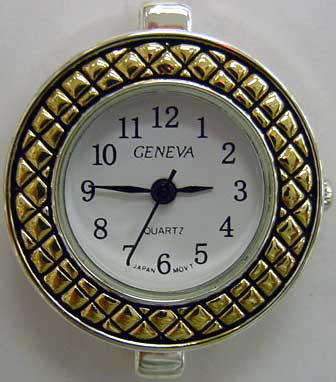 Geneva 22mm Round Two tone beading watch faces