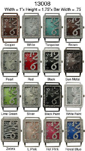 Geneva 22mm Square Watch Face Dial