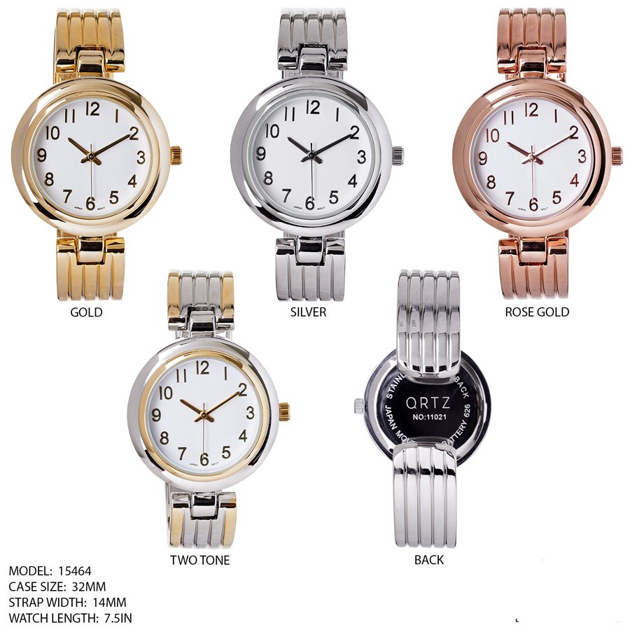 NEW Women's cuff Fashion Stainless Steal watch
