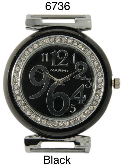 Ewatchwholasle-Women's 34mm Round Rhine stone Watch Face
