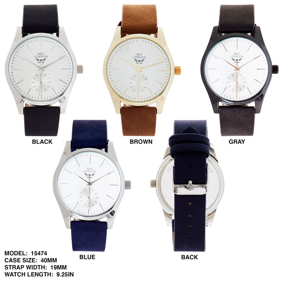 NY London New Stylish 40mm Round Dial Watch