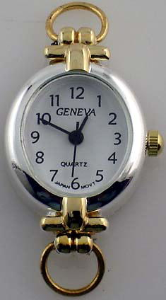 Geneva oval shape  Two tone with Loop Watch Face