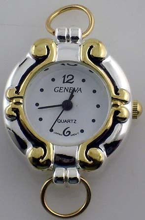 Geneva Round Two tone with Loop Watch Faces