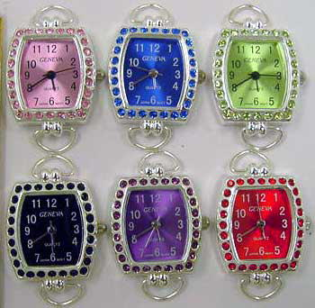 Watch Faces with Color Rhinestone Case & Matching Dial