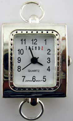 Geneva 22mm Square shape Silver tone loop watch faces