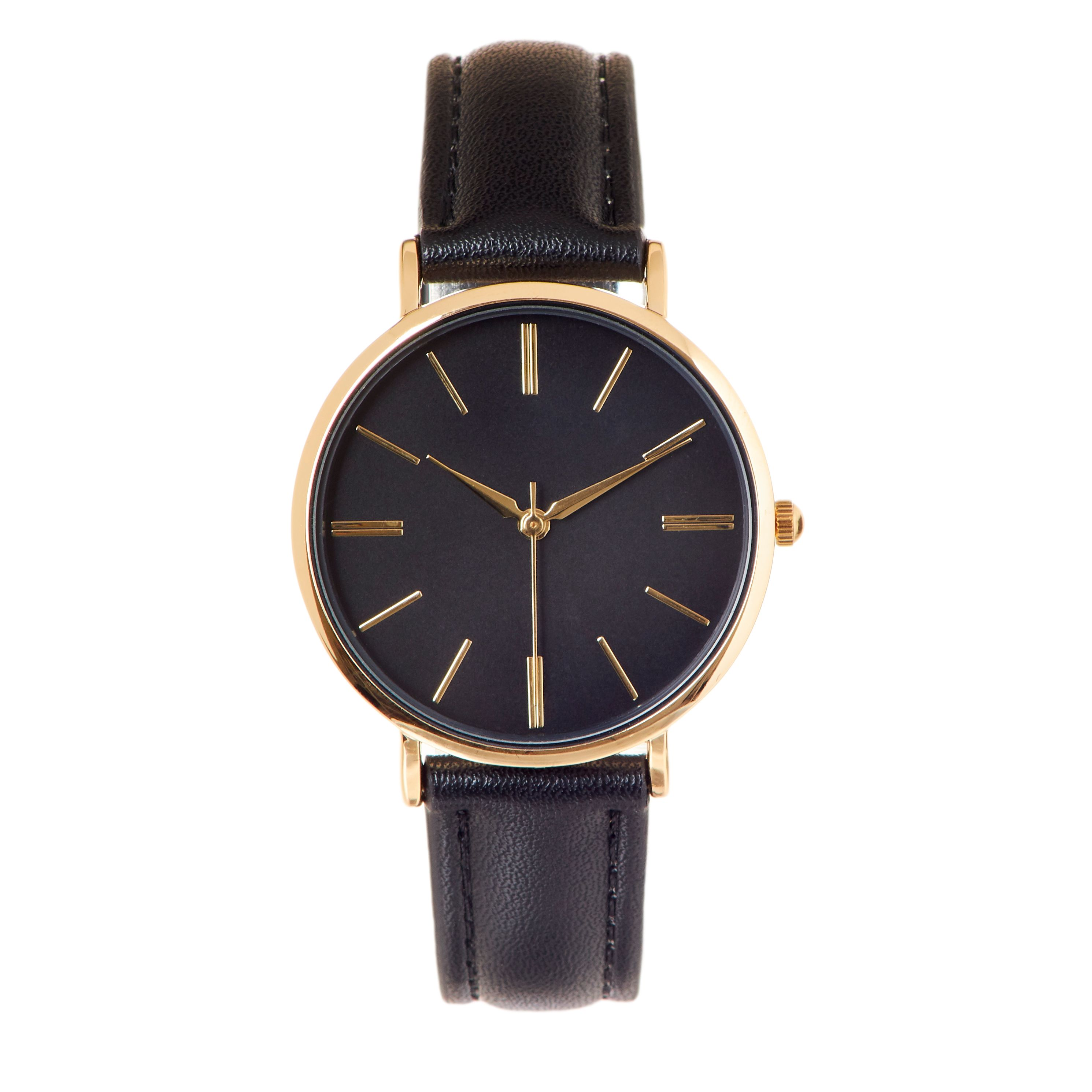 New Women's 30mm Round Dial with Leather Strap Band
