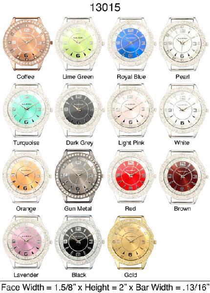 Narmi 34mm Round Solid Bar watch Face
