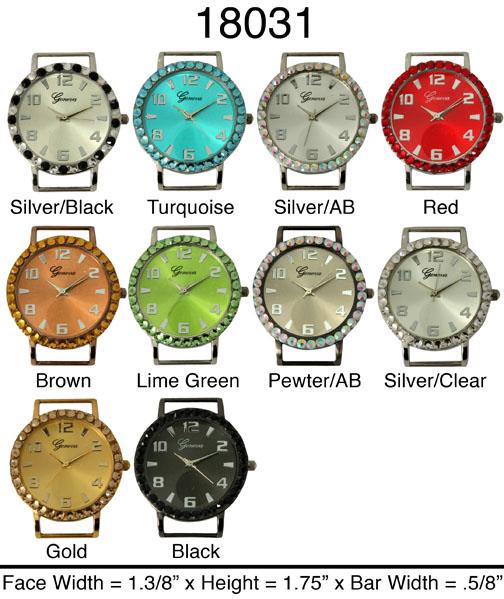 Geneva 34mm Solid bar watch Face