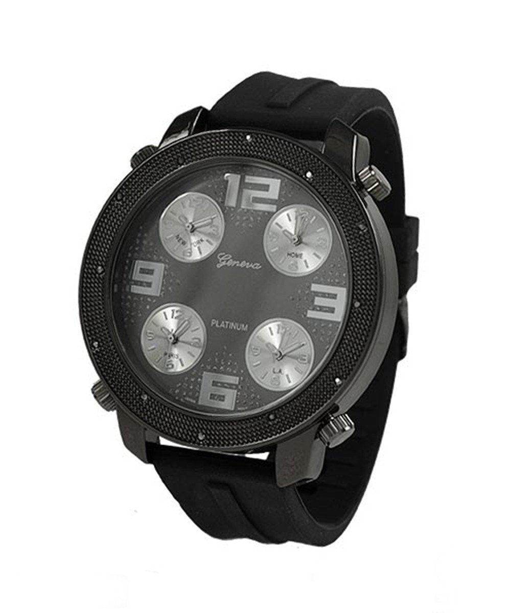 Men's 54mm Dial watch with 4 chronograph