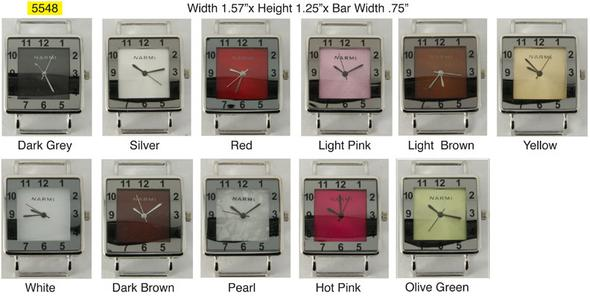 Narmi 36mm Square Two Tone Square Watch Face