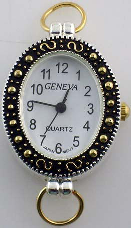Geneva 22mm oval shape Two tone Face