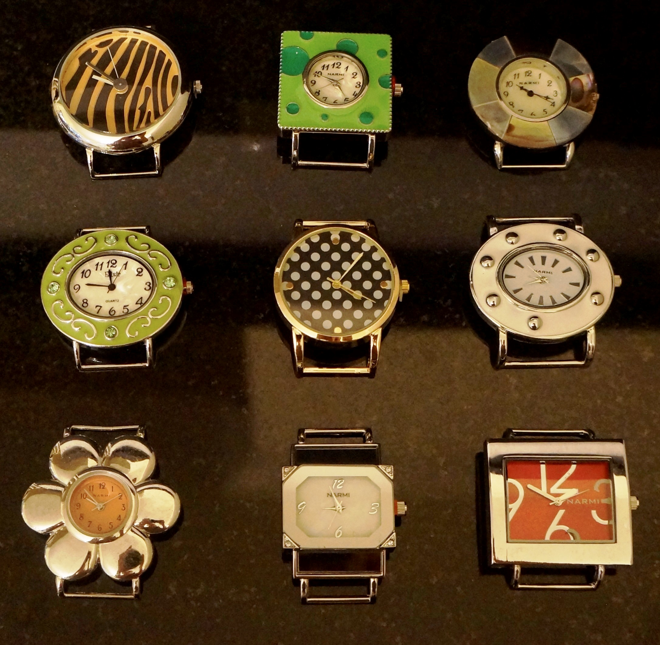 new 5 mix solid Bar Watch Face Lot