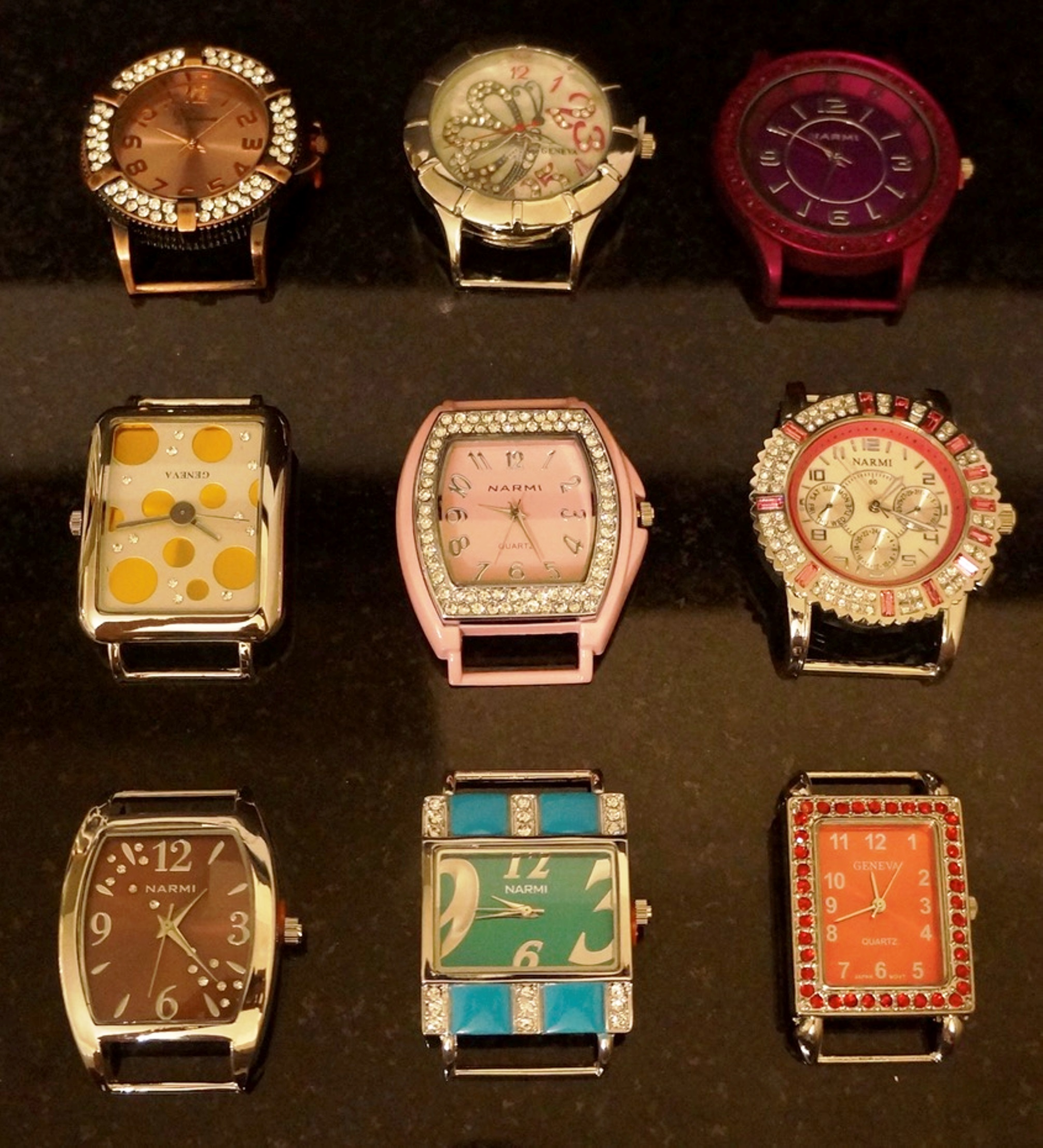 Narmi 5 Mix Solid Bar Watch Face for jewelry Making
