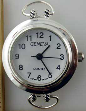 Geneva 20mm Silver tone loop watch faces