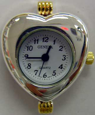 Geneva heart Shape Two tone beading watch faces