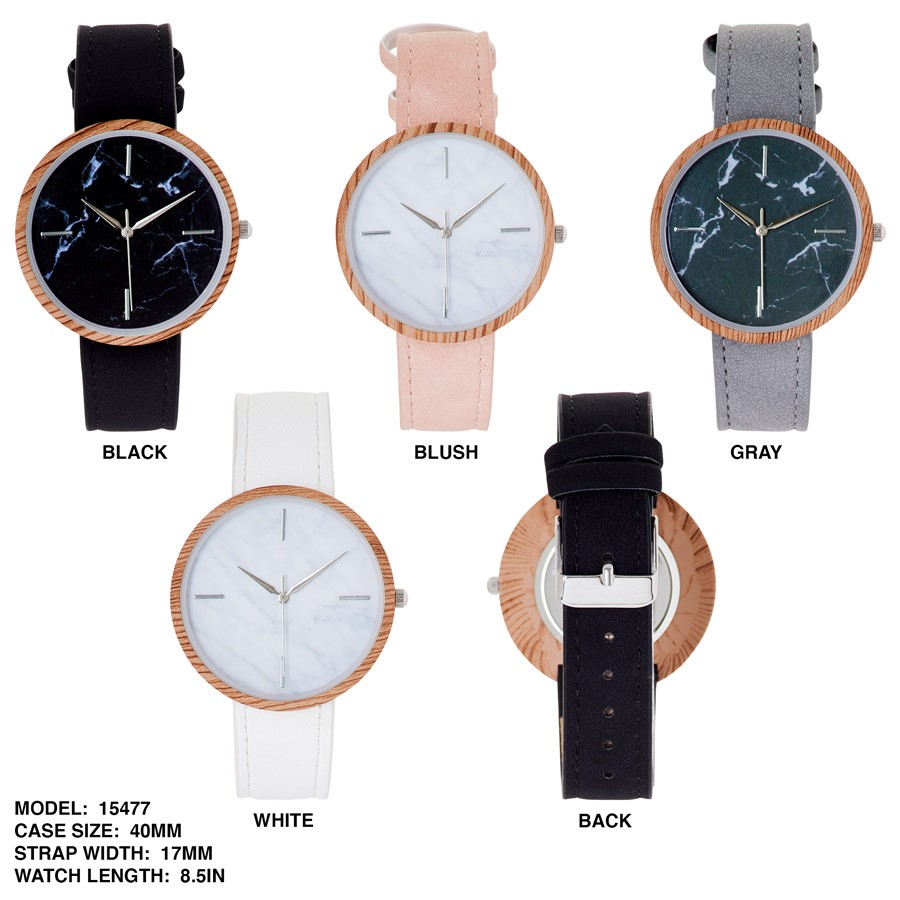 New Stylish Watch with Colorful Leather Band