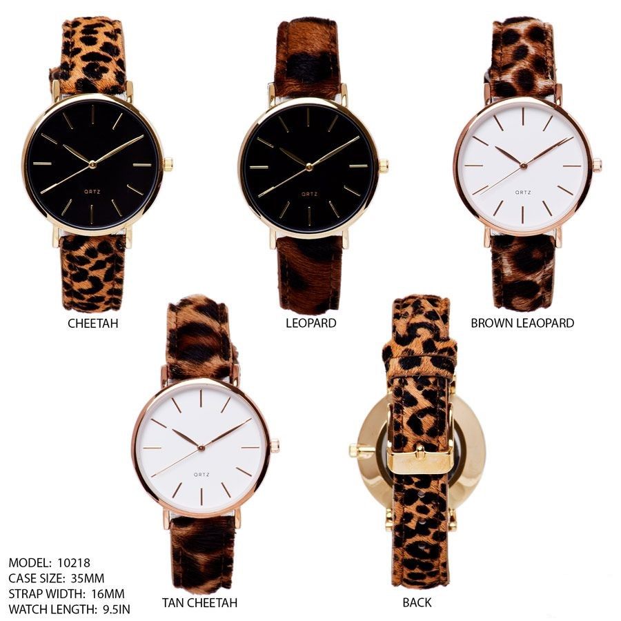New Animal Skin printed Band Watch