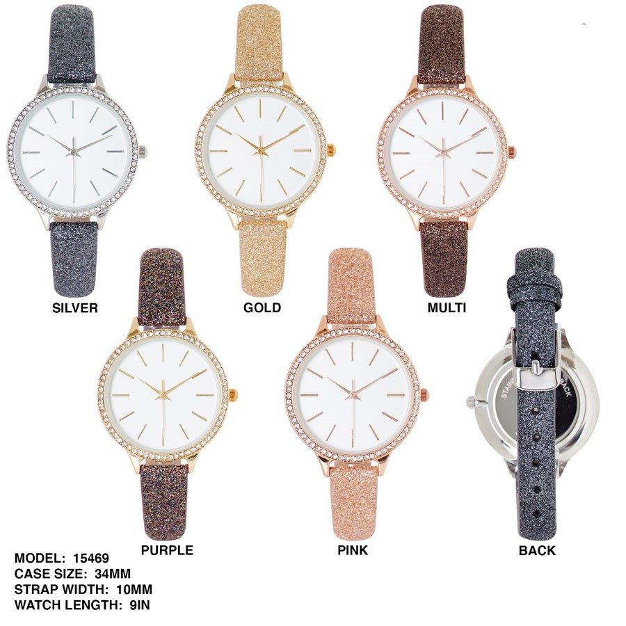 NEW Women's 34mm Round Dial with Leather Band