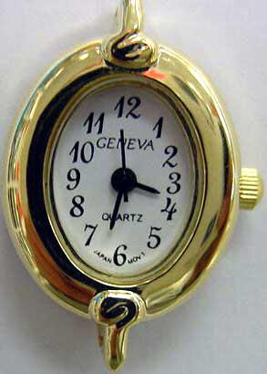 Geneva 20mm Oval Shape Gold tone watch faces