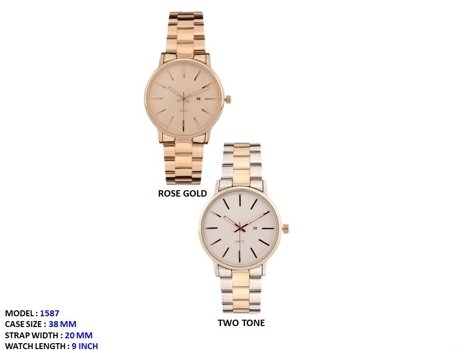 NEW Men's 38mm Round Dial with Stainless Steal Strap Band