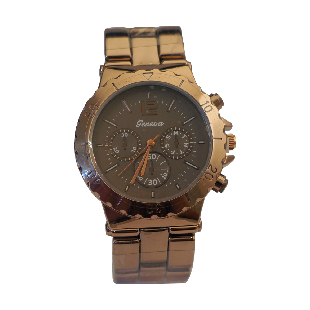 Ewatchwholsale-Women's 34mm Round Dial with Stainless Steel Strap Watch
