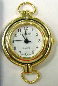 Geneva 22mm Gold tone with Loop Watch Face