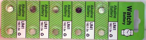 10 Alkaline Watch Batteries (LR41)