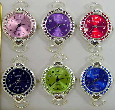 Watch Faces with Rhinestone Case & Matching Dial
