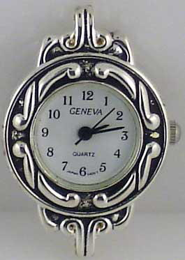 Geneva 22m Stylish Silver tone big hole Face