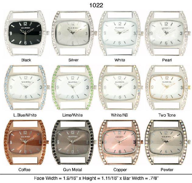 Womens's Geneva CZ Solid Bar Watch Face
