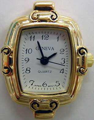 Geneva 24mm beautiful Gold tone watch face