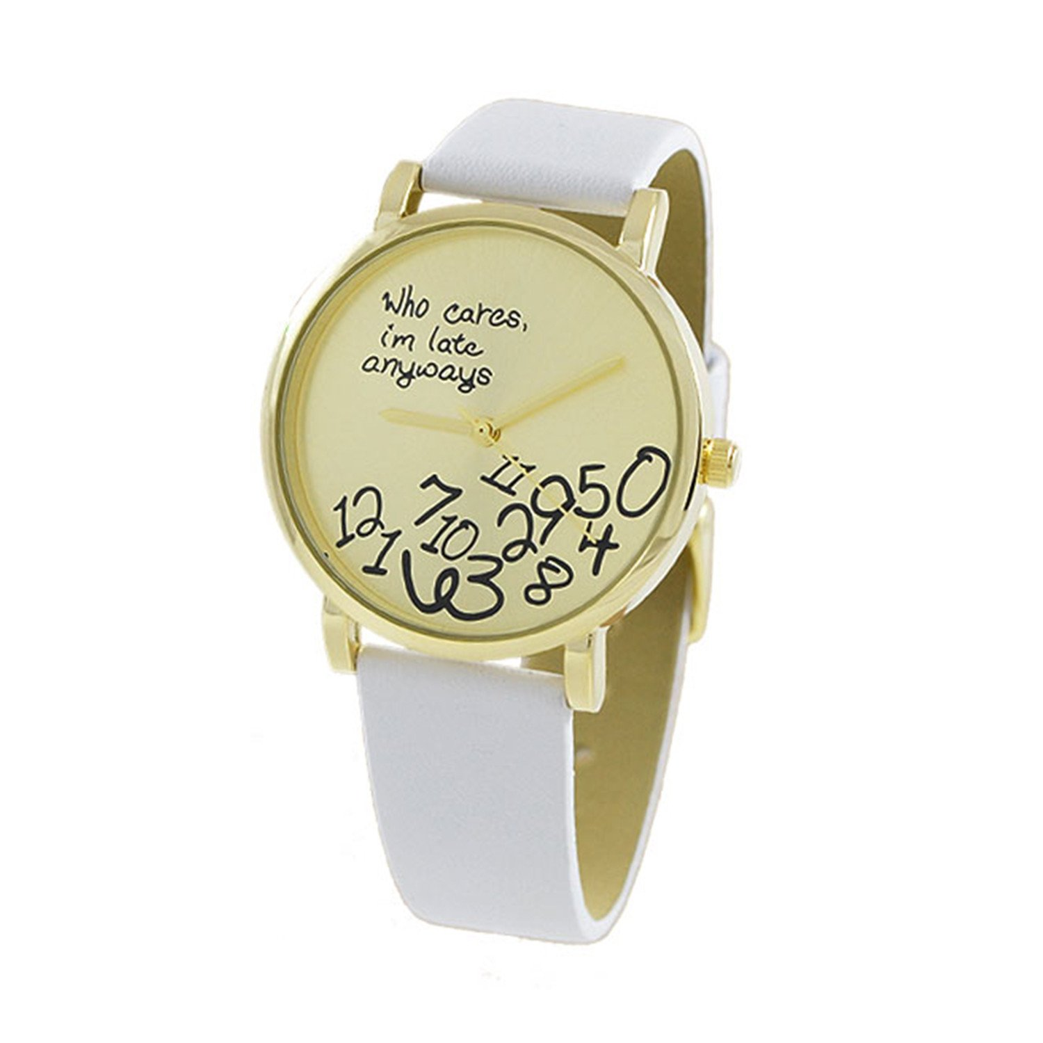 Women's 37mm Fancy Dial with Leather Strap Band