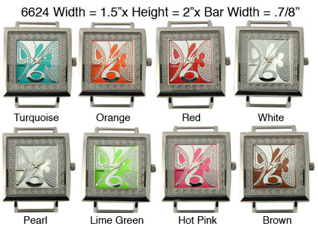 Women's 34mm Square Solid bar Watch Face