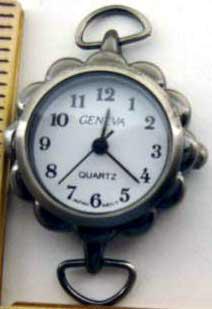 Geneva 22mm Antique Silver Watch Faces
