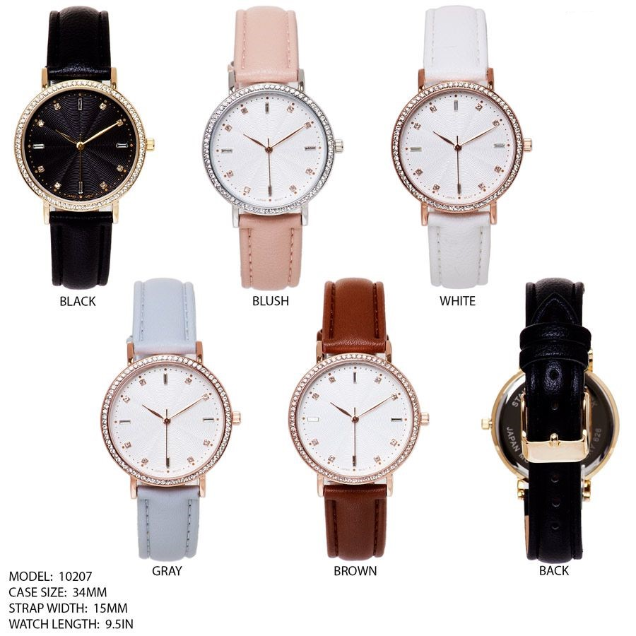 New 34mm Beading Face with Leather Strap Band