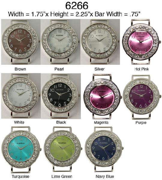 Women's 34mm Round Rhinestone Watch face