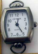 Geneva 20mm Antique Silver Watch Faces