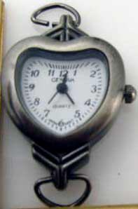 Geneva 22mm heart Shape Antique Silver Watch Faces